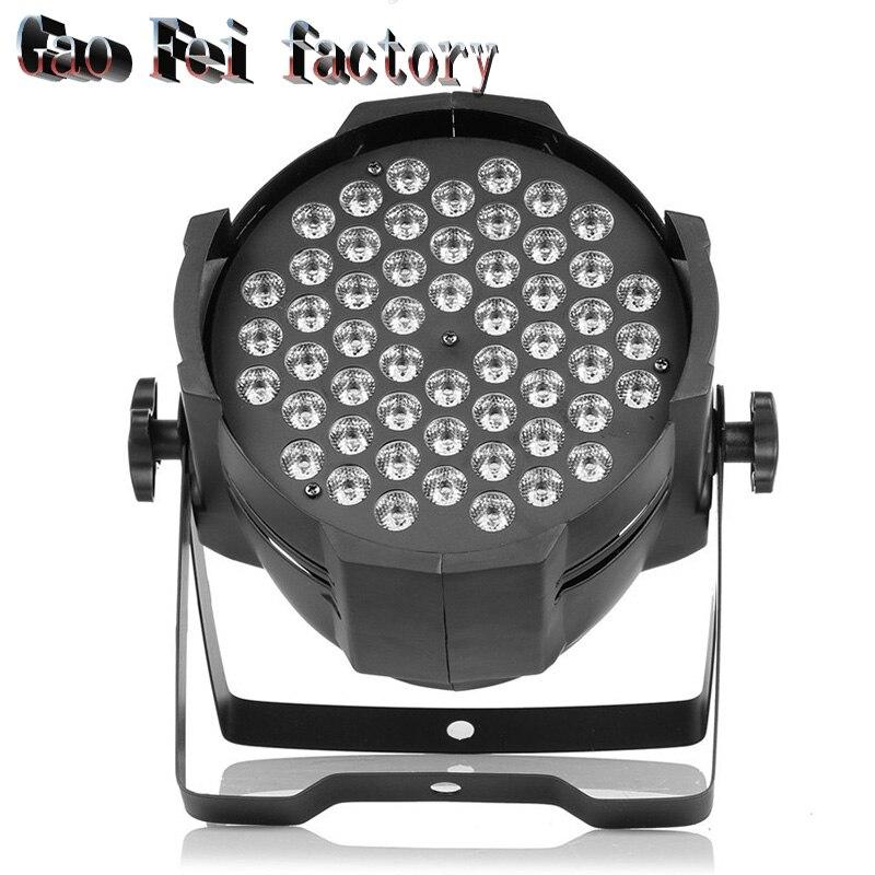 Aluminum alloy LED Par 54x3W RGB 3in1 LED Par Can Par 64 led spotlight dj projector wash lighting stage lighting