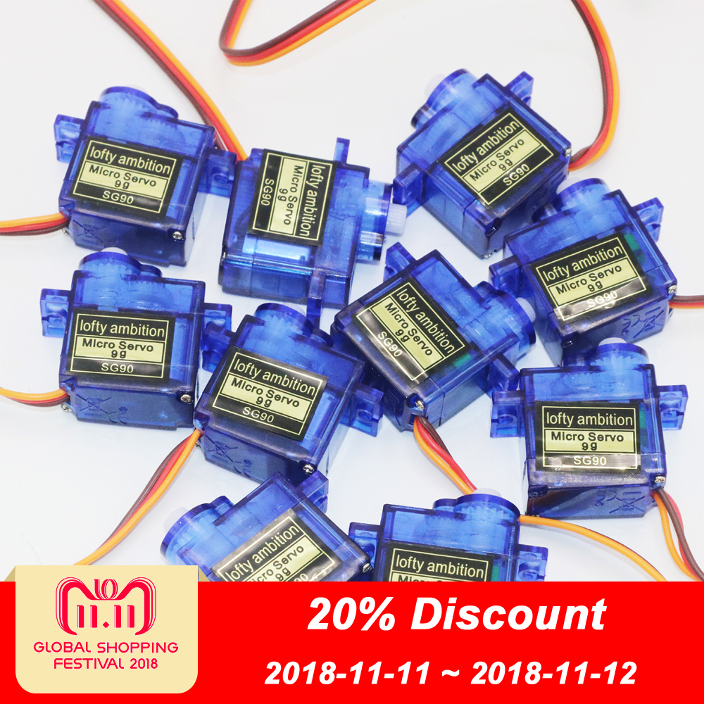 10pcs/lot lofty ambition SG90 9g Mini Micro Servo for RC for RC 250 450 Helicopter Airplane Car Drop Free Shippping 2018 new sg90 servo mini micro 9g for rc helicopter airplane foamy plane car boat high quality