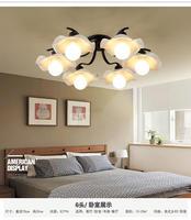 Nordic американский село пастырской потолочный светильник железа свет детской книги комнаты мастер Спальня Ресторан длинные лампы