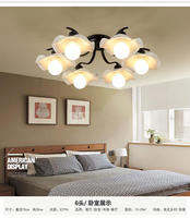 Nordic American Village Pastoral Ceiling Light Iron LED Light Child Book Room Master Bedroom Restaurant Long lamps