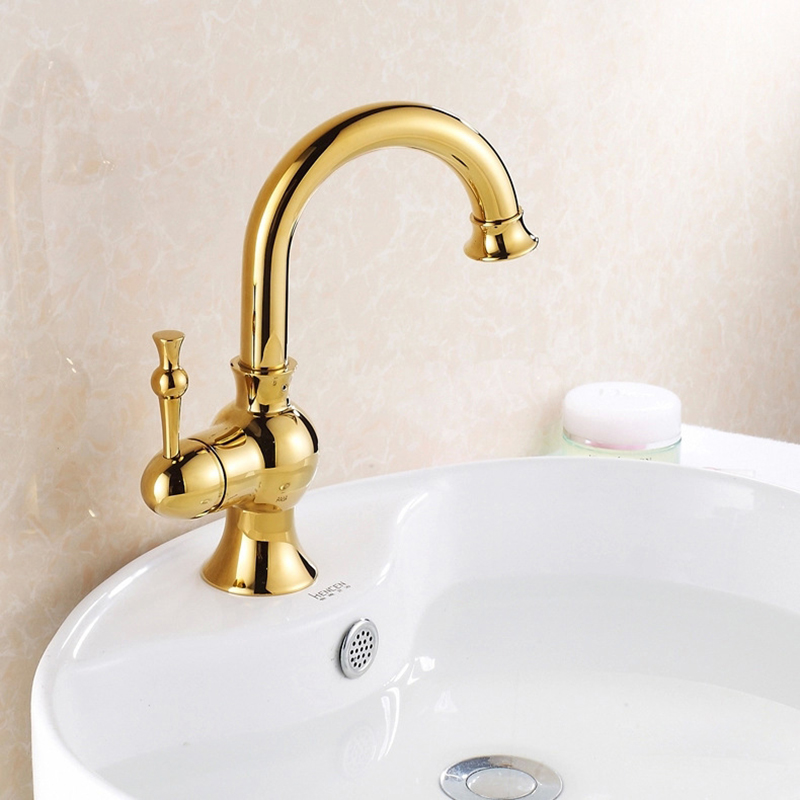 MTTUZK Kitchen & bathroom hot and cold water sink faucets deck mounted basin taps mixer washbasin faucet golden faucetMTTUZK Kitchen & bathroom hot and cold water sink faucets deck mounted basin taps mixer washbasin faucet golden faucet