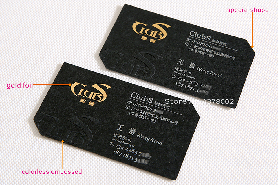 Custom business cards gold foil cards embossed carving name card upscale craft show reheart Images
