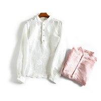 Women Summer Silk Blouse O neck Long sleeve office wear casual natural silk blouses cat print real silk spring summer blouse