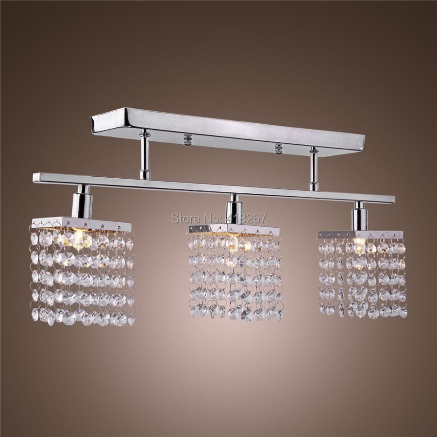3 Light Hanging Crystal Ceiling Lights , Modern Flush Mount Ceiling ...