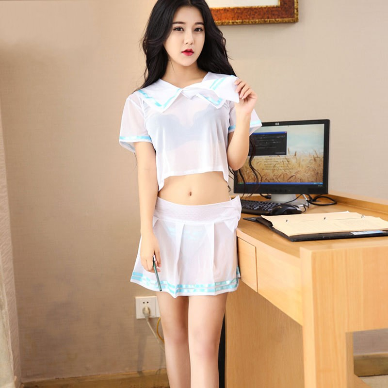 Cute Babydoll Student Uniforms Sexy Lingerie Outfit Sets Exotic Apparel Cosplay