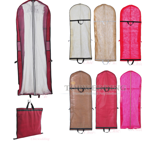 Wedding Gown Garment Bag: 6 Color Wedding Bridal Gown Garment Bags Prom Party Dress