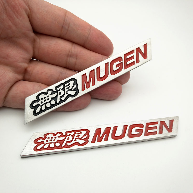 YONGXUN 3D Aluminum Mugen Emblem Chrome Logo Rear Badge For Car Trunk Sticker Car-Styling for Honda Civic Accord CRV Fit car styling for mercedes benz g series w460 w461 w463 g230 g300 g350 chrome number letters rear trunk emblem badge sticker
