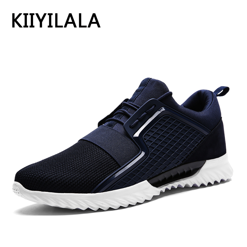 KIIYILALA Air Mesh Running Shoes Sneakers Men Sports Spring Mesh Mens Shoes Hollow Lace-up Light For Men Running Shoes For Men