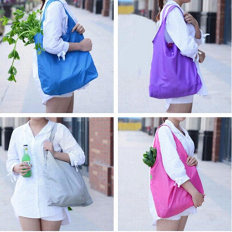 1 Stücke Tragbare Falten Einkaufstasche Große Taschen Dicken Folding Wasserdichte Ripstop Tasche