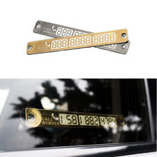 Car Bling Car Luminous Temporary Parking Card Plate Sucker Night Phone Number Card Car Stop Parking Sign Car Plate Notice Number(China)