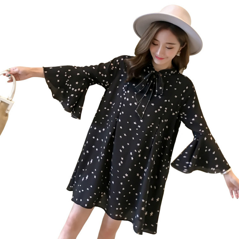 a85f596657 Plus Size Maternity Shirt Chiffon Shirts Pregnant Office Lady Shirts Summer  Autumn Tops Clothes for Pregnant