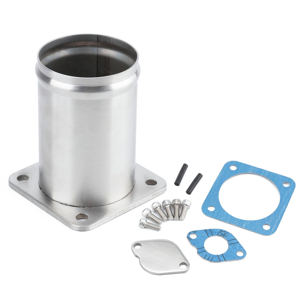 CNSPEED Car Valve blanking plate Removal Pipe kit For LAND ROVER DISCOVERY 2 & DEFENDER TD5 EGR ULTIMATE stainless steel