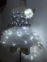 LED clothes/ Luminous costume/ LED Ballet costume party/Reception clothingss