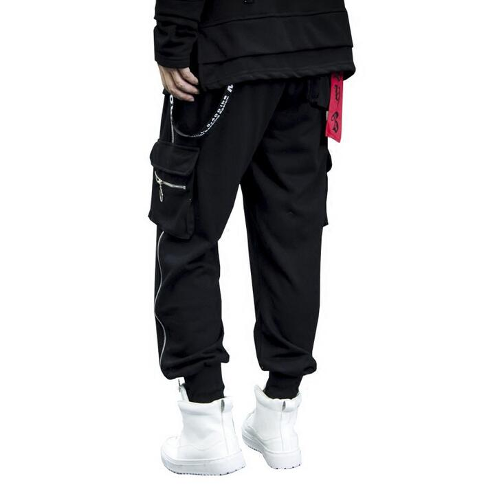 Homme Rue Mode Nouveauté Et Pantalons D'hiver Automne Hommes Noir Harem De Personnalité Pieds Zipper Punk Pantalon 7UqPU4Oy