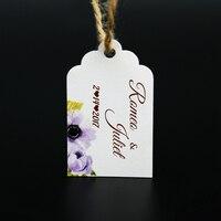 Personalizzato Appendere Tag Regalo Con Nome personalizzato Per La Cerimonia Nuziale e addio al Nubilato o Baby Shower Favor 100 pz