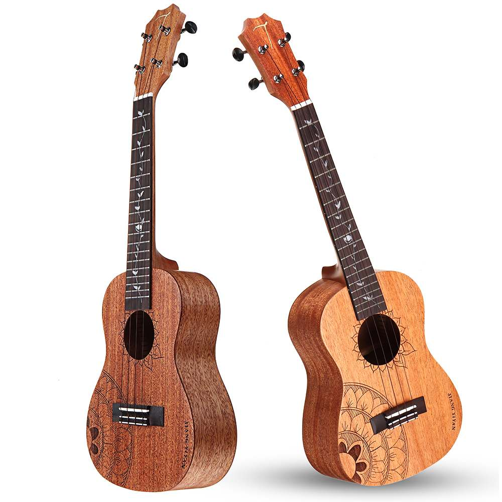 2019 JYY-C1 23 26 Inches Mahogany Hawai Ukulele 4 String Rosewood Mini Guitarra Supply Bag Guitarlele Instrumentos Musicales