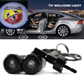 2 x Car Door Light Laser Welcome Ghost Shadow Projector Logo Light For Fiat ABARTH 500