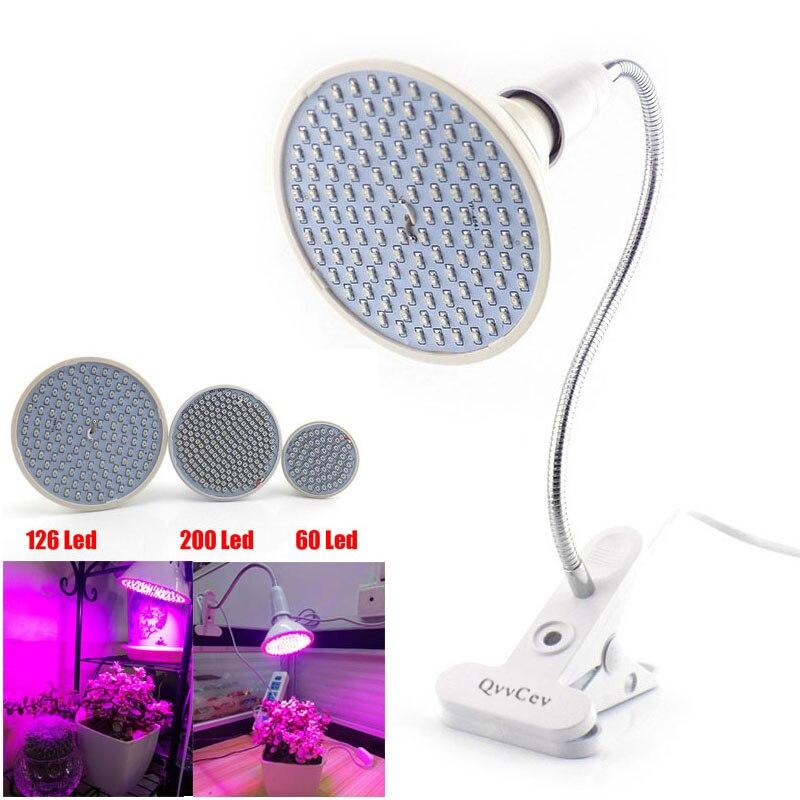 60 126 200 Led Wachsen glühbirne 360 Flexible Lampe Halter Clip für Pflanze Blume gemüseanbau innengewächshaus hydrokultur
