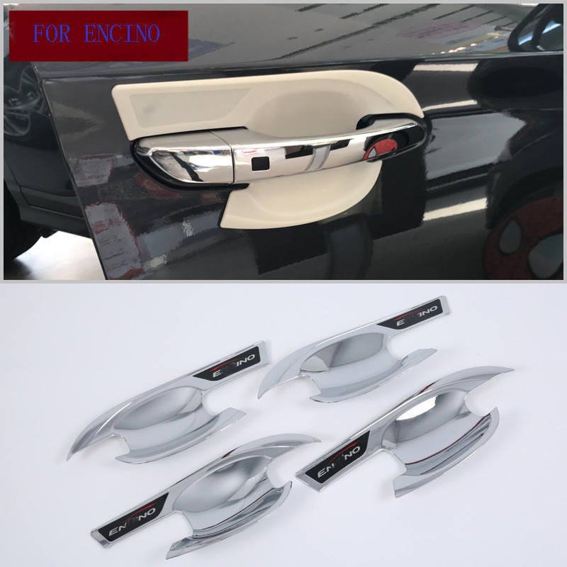 Fit For Hyundai Encino 2017 2018 2019 car styling cover detector trim ABS chrome External stick