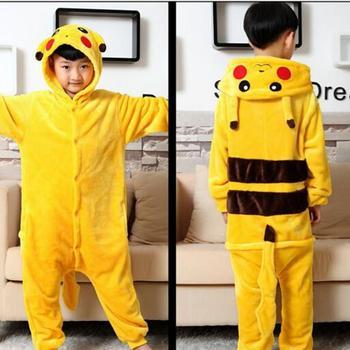 9d88a36b2d Niño niños niñas kigurumi Pikachu onesie Cosplay Pijamas de animales de  dibujos animados Pokemon disfraces niños ropa de dormir