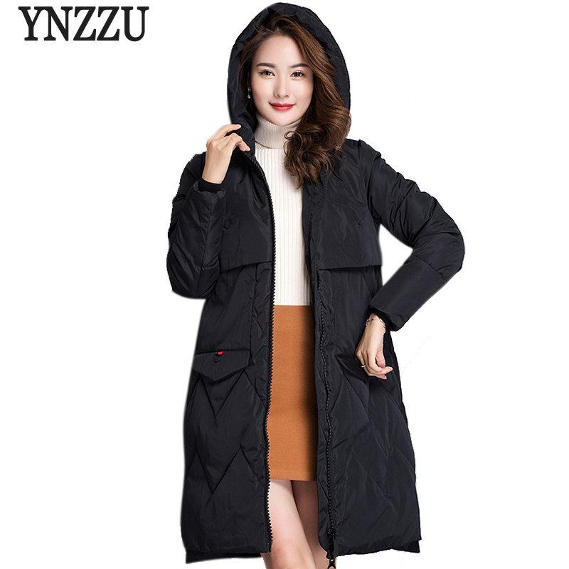 2017 New Women Winter Coat Warm Thick Hooded Parka Solid Womens Bio Down Jackets Loose Female Overcoat High Quality AO407 стоимость