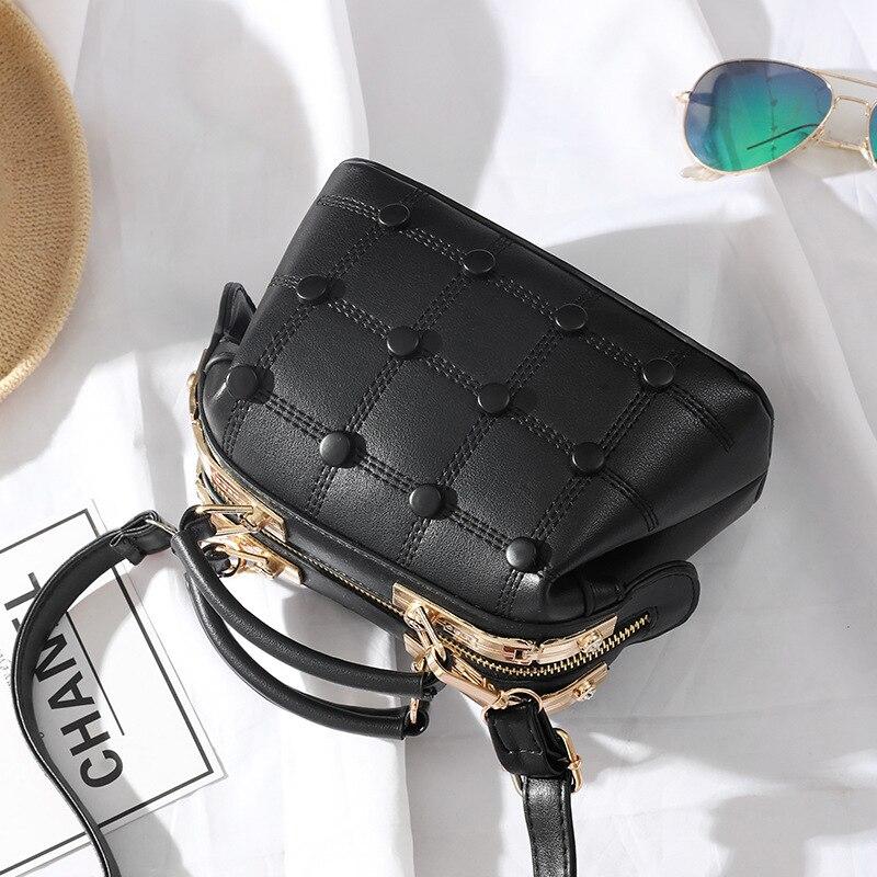 2018 new handbag mini bag small and cute full of feminine charm bags hot sale women leather handbags crossbody bags for women cute colour block and magnetic closure design crossbody bag for women