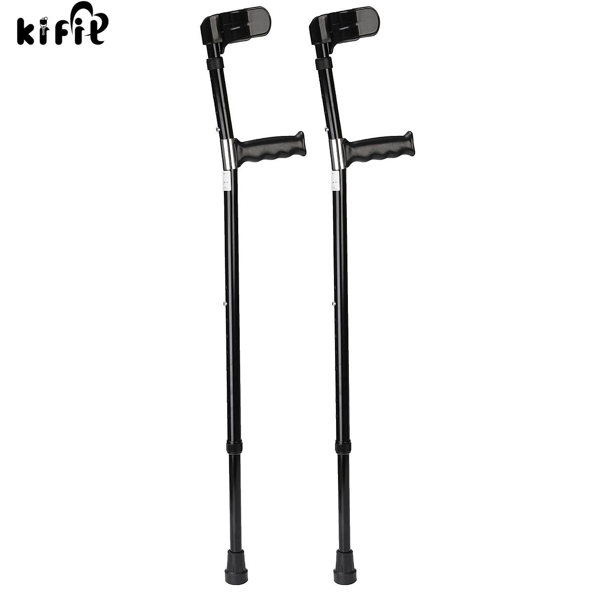 KIFIT 2PCS High Quality Aluminum Alloy Adjustable Forearm Crutches Elbow Auxiliary Equipment Personal Health Care Tool rebekka bakken rebekka bakken most personal 2 lp
