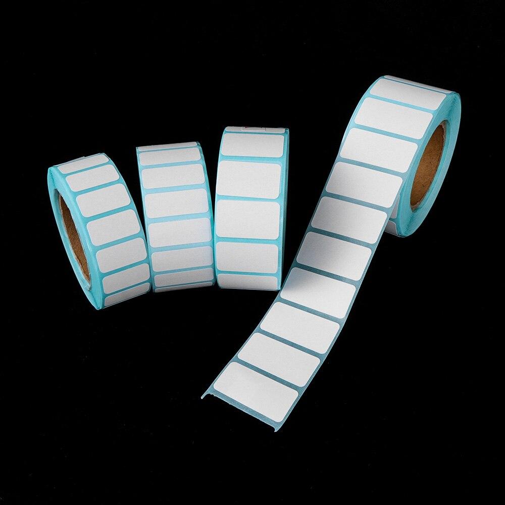 1000 шт./рулон белый клейкий Бумага Термальность клеящаяся бумага для этикеток цена супермаркета пустой прямая печать ярлыков Водонепроницаемый Стикеры s|Наклейки|   | АлиЭкспресс