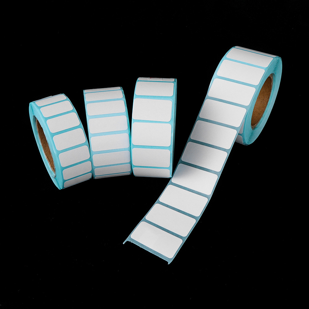 1000pcs/Roll White Adhesive Paper Thermal Label Sticker Paper Supermarket Price Blank Label Direct Print Waterproof Stickers