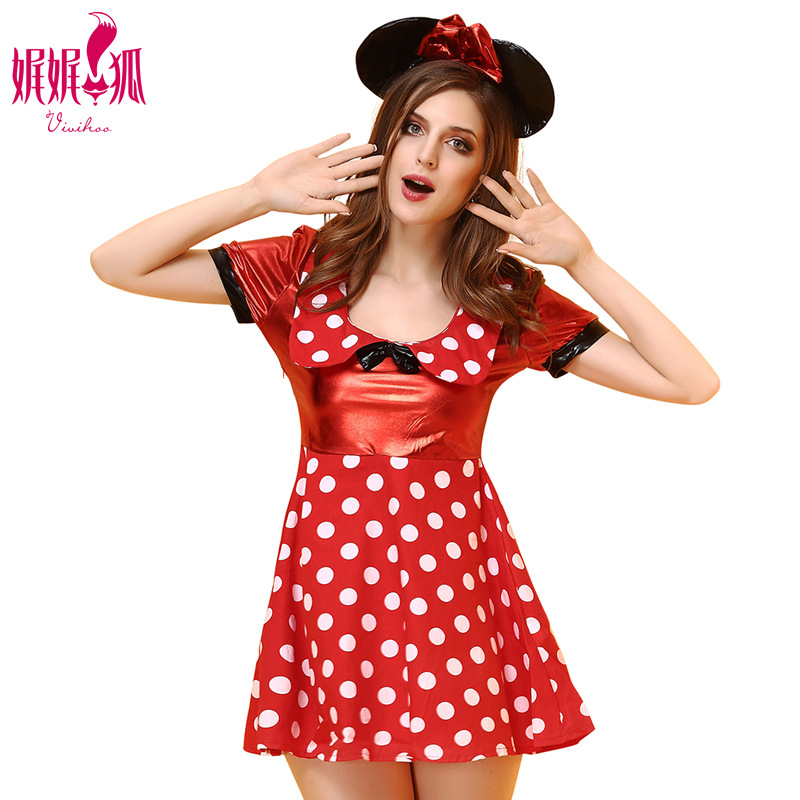 Cute Women Girls Mickey Cosplay Costume  Lovely Style Party Halloween Cosplay Clothing