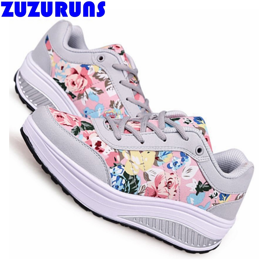 new fashion flat shoes women thick flat sole platform ladies brand travel flat shoes floral printed girls flats shoes women r206