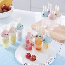 цена на Ice Cream Mold Icecream Lolly Mould Popsicle Mold Kichen Accessories Cartoon Cute Rabbit Ice Cube Maker Popsicle Silicone Molds