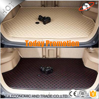 Car Accessories Car Trunk Mat Cargo Liner Leather Embroidery One Piece Trunk Mat High Quality And