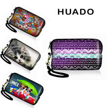 Cute Printed Women Coin Purse Ladies Small Change soft Neoprene Wallets Female Zipper Wallet