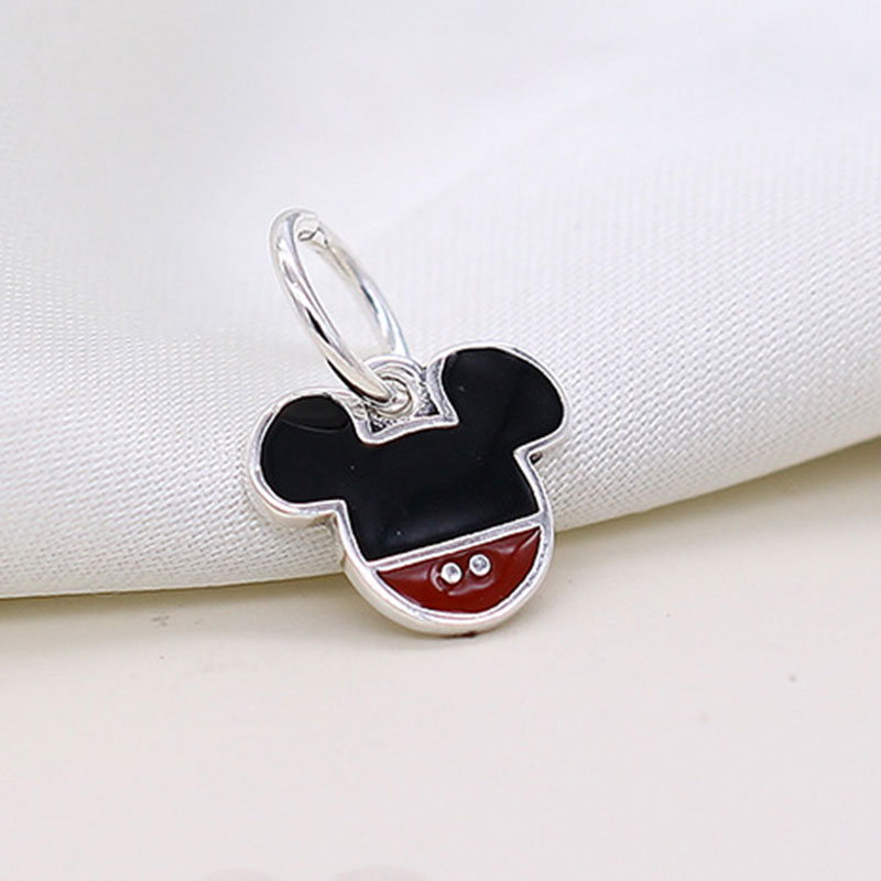 925 Silver Charm Bracelet Mickey Mouse Sterling Chain European Pendant Beads
