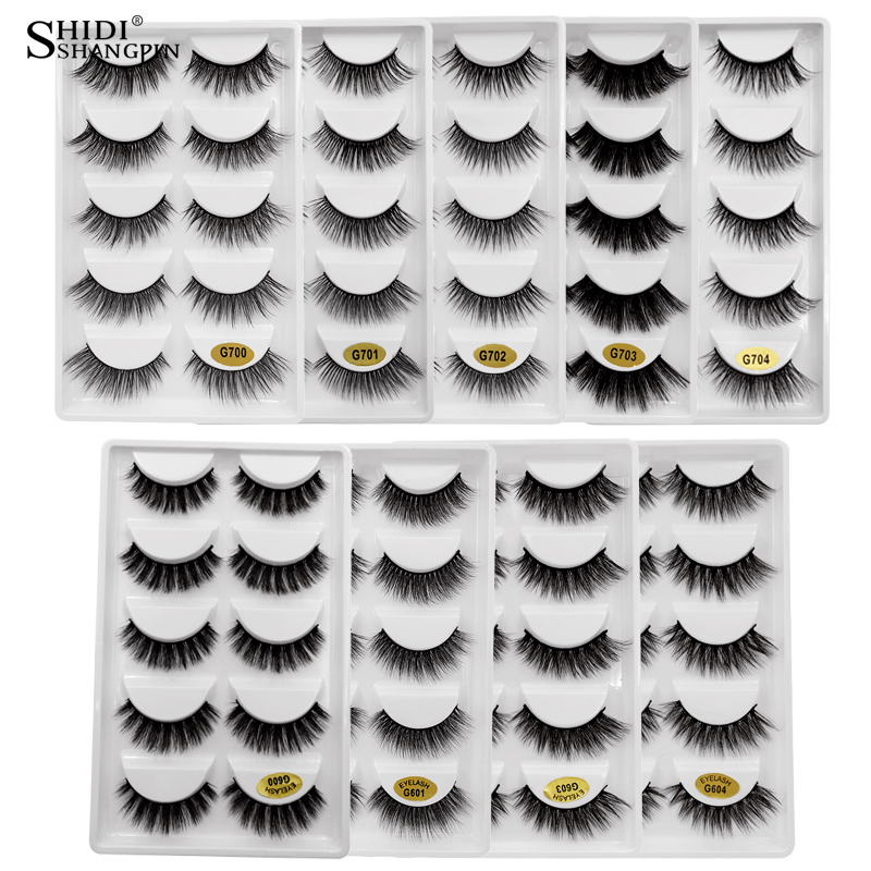 LANJINGLIN tira cílios vison natural a longo cílios postiços cilio 3d mink lashes maquiagem falso eye lashes extensão do chicote