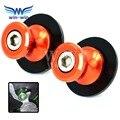 Motocicleta acessórios de alumínio braço oscilante carretéis deslizante 6mm 8mm 10mm orange cor para ktm todos modelo