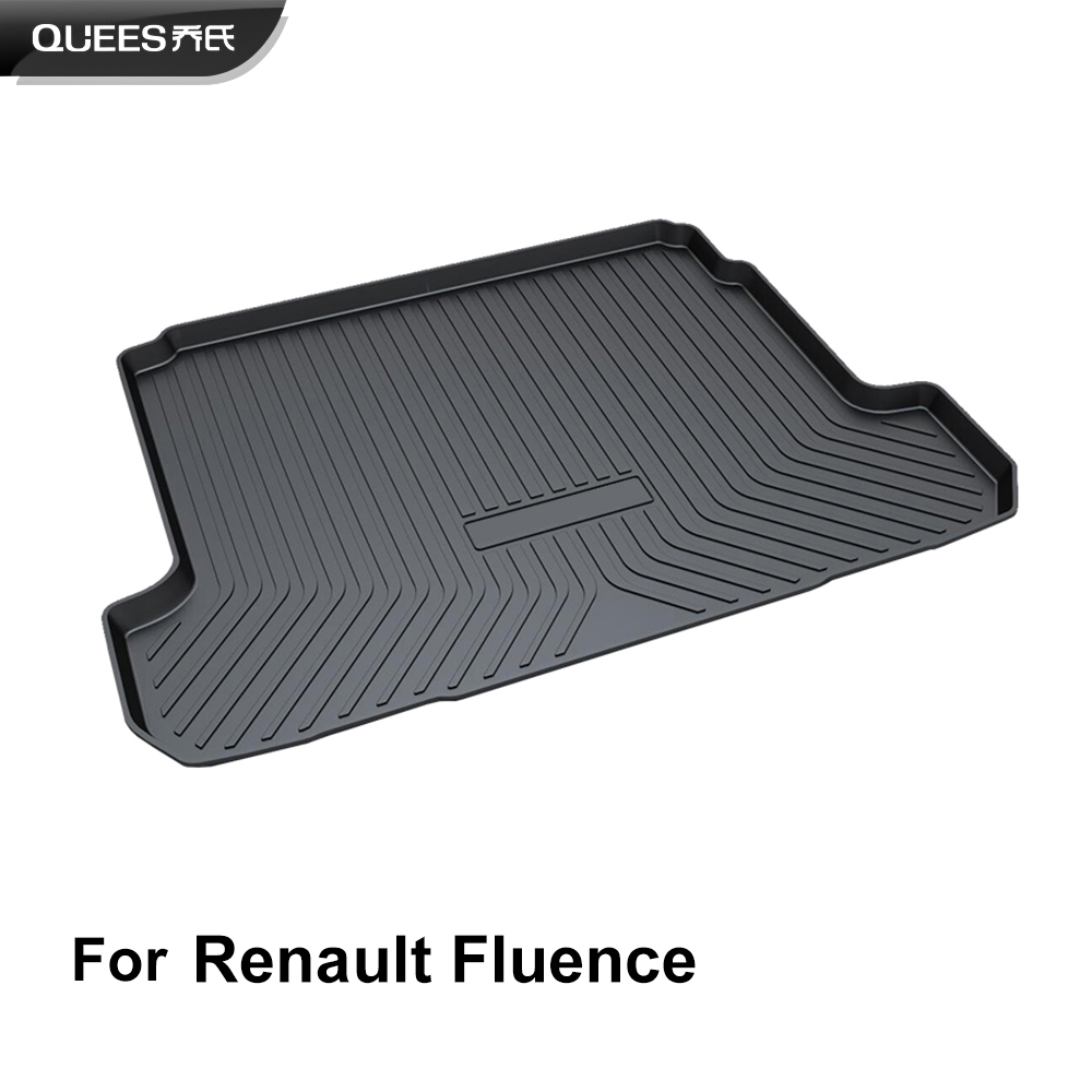 QUEES Custom Fit Cargo Liner Trunk Floor Mat for Renault Fluence Renault Samsung SM3 2011 2012
