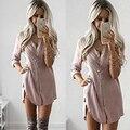 Plus size primavera verão mulheres blusas da moda 2017 new khaki camisa corpo das mulheres camisas de manga longa tops blusa formal clothing