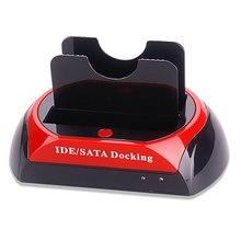 Новый двойной 2.5 3.5 IDE SATA 875D жестких дисков HDD док-станции otb USB Все в 1 Великобритании QJY99