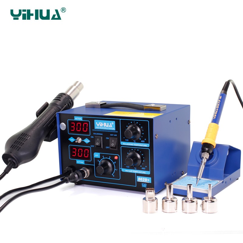 Здесь можно купить  YIHUA 862D+ 720W phone Repair Air Soldering Station With Heat Gun For Solder  Инструменты