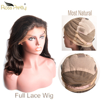 Full lace wig Peruvian Hair Lace Wigs Most Natural Full Lace Human Hair wigs Thick and Silky Ross Pretty Hair Body Wave Lace Wig