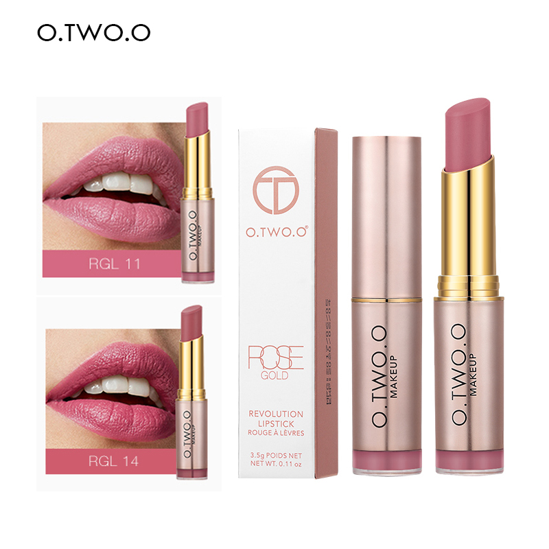 O.TWO.O Matte Lipstick For Red Lips Beauty Makeup Long Lasting Waterproof  Make Up Lip Set 20 Colors Nude Cosmetic Lipsticks Kit