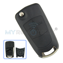 Flip remote car key shell case 2 button for Vauxhall Opel Corsa Astra H Zafira B Vectra remtekey