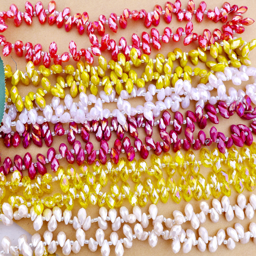 Beads Wholesale 6x12mm Crystal 6010 Briolette/teardrop/waterdrop Charm Beads New Alabaster/jadee Ab Color Top Quality Free Shipping-6