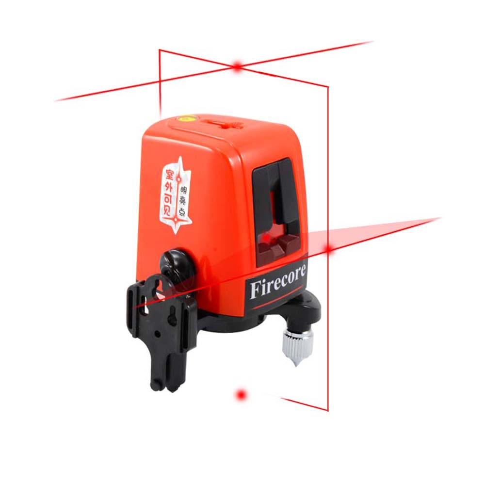Firecore A8827D  laser level 3 lines 3 point  horizontal and vertical red beam laser line WAL12 linvel lv 8827 3 gold