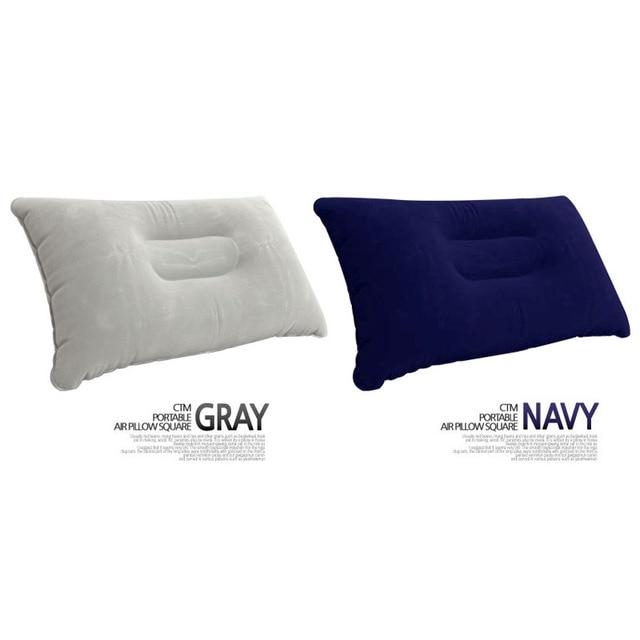 Уличная надувная подушка большая утолщенная Флокированная квадратная спальная Сумка для кемпинга Подушка для стула складная дорожная