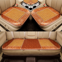 3pcs car seat cover bamboo automobile seat cushion breathable car pad mat anti slip for nissan bmw audi benz ford