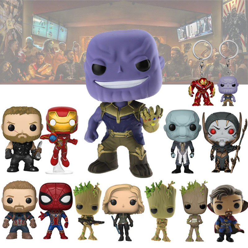 Infinity War Thanos Action Figure Model Toys Thor Iron Man Spiderman Captain America Black Panther Strange Vinyl Doll Toys
