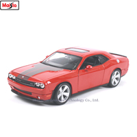 Maisto 1:24 Dodge Challenger simulation alloy car model crafts decoration collection toy tools gift